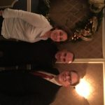 HUC President Katerina Dimitriadis and HMS board member Elias Iliadis with Ioannis Melissanidis at 2016 Holiday party.